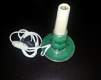 Former Green ceramic lamp foot