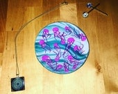 Jellyfish ring dish / trinket dish / key dish / jewelry dish / middle size