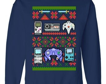 Retro Video Game Ugly Christmas Sweater