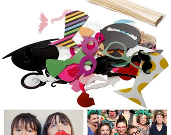 58 Wedding Party Photo Booth Props