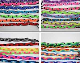 Surfer wave friendship bracelet