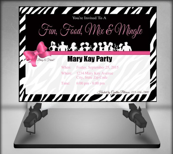 Mary Kay Party Invites as Inspirational Ideas To Make Lovely Invitation Design