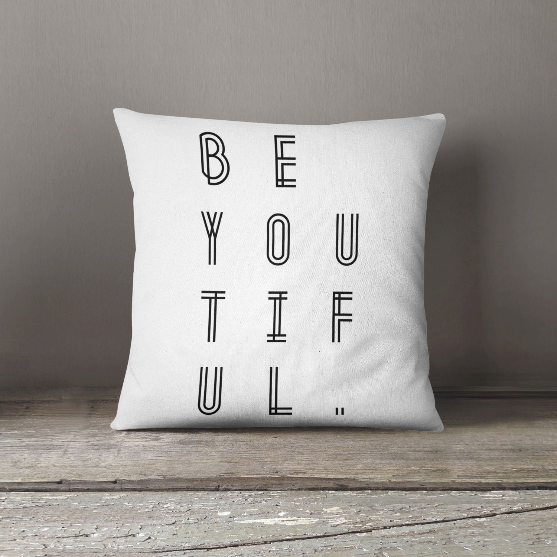 Modern minimalist cushion monochrome decor beyoutiful for Modern home decor gifts