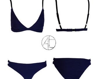 Texture bikini Womens bikini set