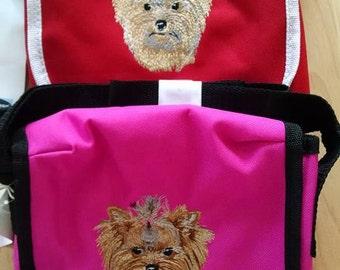 Embroidered Yorkshire Terrier (Yorkie) Shoulder Bag