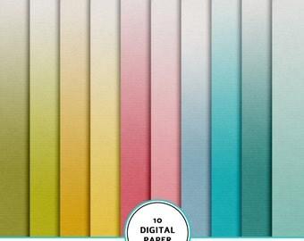 Gradient paper kit, digital scrapbook paper kit, gradient background, printable paper, texture paper, instant download, ombre digital paper