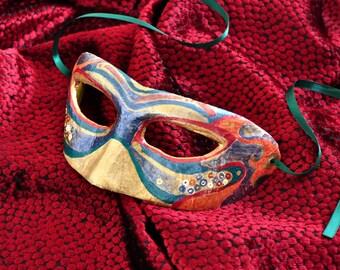Handpainted Venetian Mask - Murano Colombina