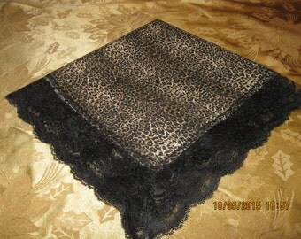 Large handkerchief which may be used as a church lap throw.