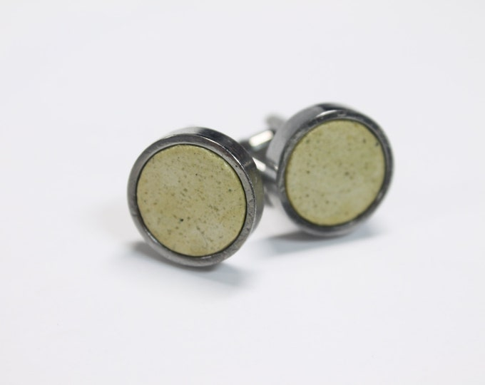 Roka Cufflinks - White, Black, Green and Blue