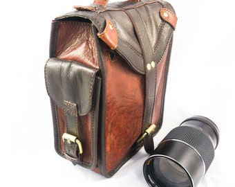 Real Leather camera bag