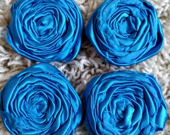 Royal Blue Satin Rosettes 2""