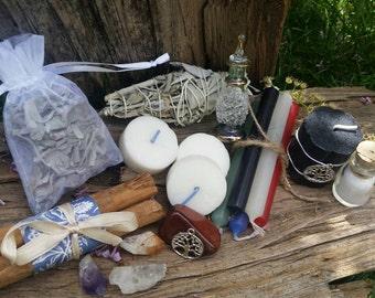 Altar kit with vintage dish