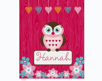 Personalized Owl Friends Journal - Custom Journal for kids and adults. Back to School gift for Kids. Kids Journal with Child's Name