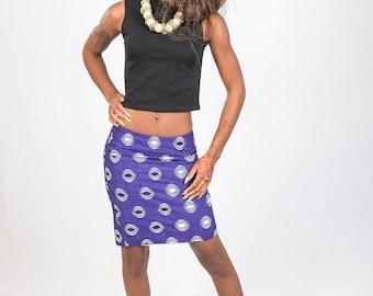 mini ankara skirt