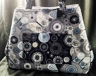 Expandable TOTE Bag - Big and Beautiful Butterfly Print!