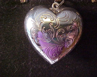 Sterling Silver Large Puffy Heart Pendant