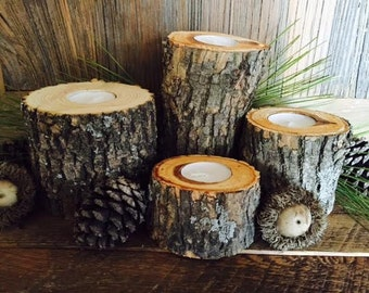 Rustic Tree Branch Set of 4