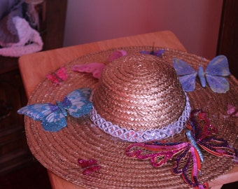 Butterfly Straw Hat
