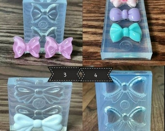 Bow Mold-Sugar Paste-Soap-Plaster-Cold Porcelain-Gumpaste-Chocolate-Polymer Clay-Hard Candy-Resin-Candle Making-Plaster!  Ask a Question