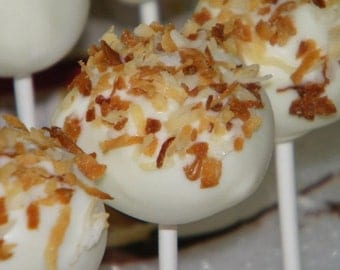 1 Dozen Coconut Cream Cake Pops