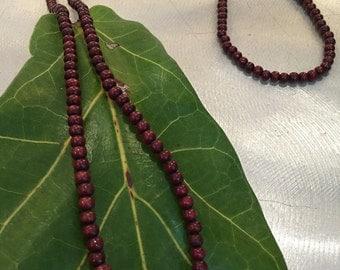 Authentic Buddha Mala Prayer Necklace Red