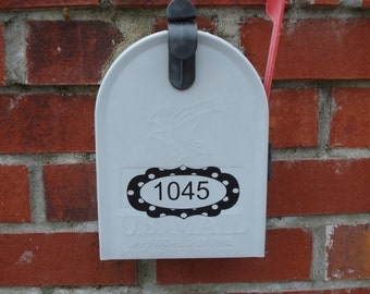 Mailbox Numbers decal in White or Black