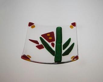 Cactus Glass Dish