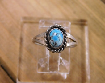 Stunning Turquoise in Sterling Silver Ring size 5.5