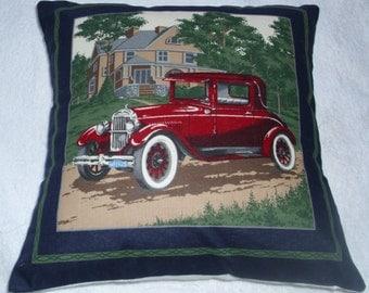 Vintage Red Car cushion