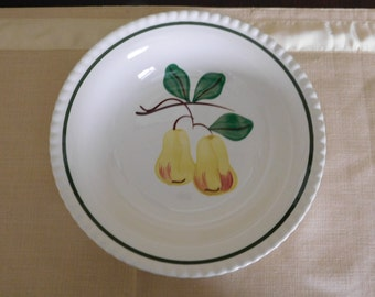 Vintage Blue Ridge Southern Potteries Hand-Painted Twin Pears Serving Bowl