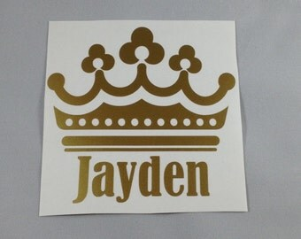 "Princess/Crown Name  Decal 4x4"""
