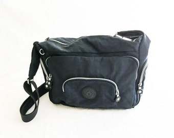 Kipling bag - Kipling backpack - Cross body messenger bag - Navy shoulder bag - Carry on bag - Navy Kipling bag