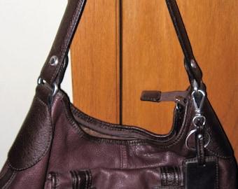 Etienne Aigner Brown Leather Handbag...Nice Front Pocket