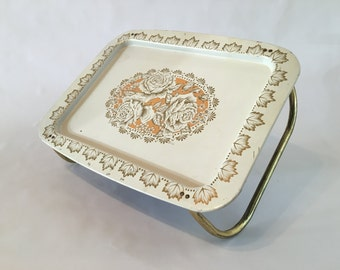 Floral Metal Food Tray
