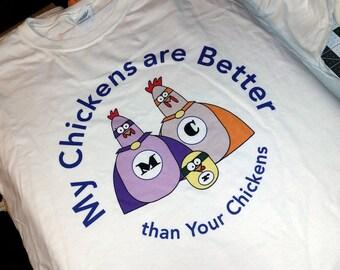Super Chickens T-Shirt - Adult