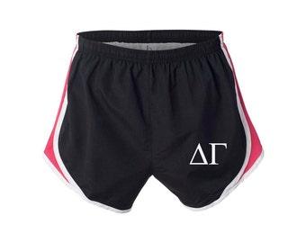 Delta Gamma Shorts, DeeGee Shorts, Delta Gamma Apparel, DG Running Shorts, Delta Gamma velocity shorts, Delta Gamma practice shorts