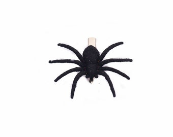 Glitter Spider Hair Clip by CreepyCheeks
