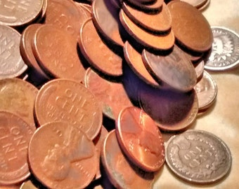 Lincoln Wheat Pennies 50 % off sale ,   100 coins