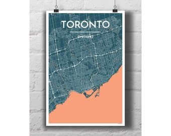 Toronto City Map Print (portrait orientation)