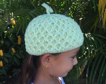 Crochet : Children cute cap Peanut and Melon