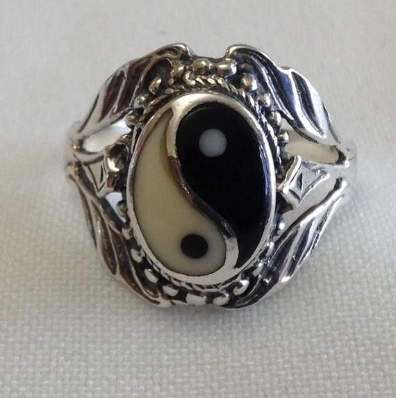 yin yang ring jewelry set sterling silver ring earrings