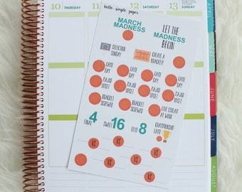 March Madness Planner Stickers