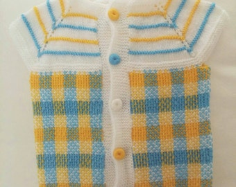 Handmade Baby Cardigan,  Hand-Knitted Colorful Baby Cardigan, Baby Sweaters,  Healty Baby Clothes
