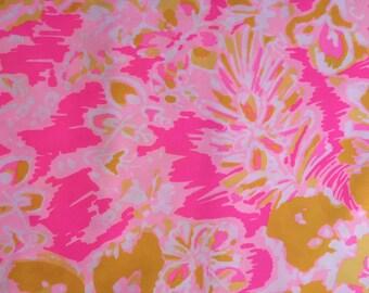 OH LA LA Spring Fabric   17x17 or 17x8 Lilly Pulitzer
