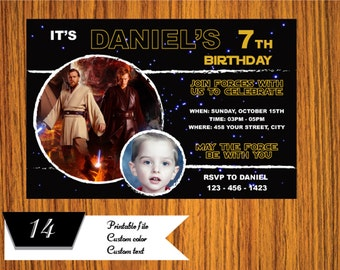 Star Wars Invitation - Star Wars Party Invitation - Star Wars Birthday Party Invite - Star Wars Party Printable - FREE card THANK YOU | M14