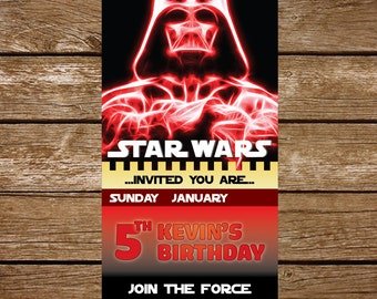 Star Wars Invitation, Star Wars Birthday Invitation, Star Wars Party Invitation, Star Wars Party Printable - FREE card THANK YOU | M49