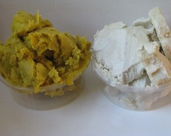 Real Organic Natural Unrefined Raw Shea Butter Yellow/Ivory African Ghana Grade A