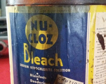 Nu-Cloz Bleach Bottle (Old)