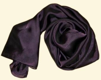 Seidenschal Seidenstola violett schwarz changierend