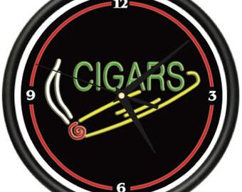 CIGAR 1 Wall Clock shop smoker lounge cuban cigars